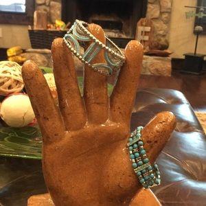 🔴FOR BUNDLES ONLY🔴2 Bracelets Blue and silver